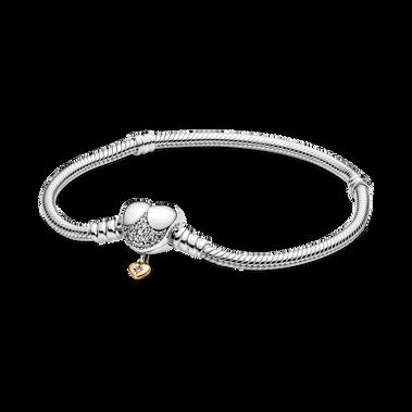 Bracelet à chaîne serpentine et fermoir en forme de cœur Disney Princess Pandora Moments