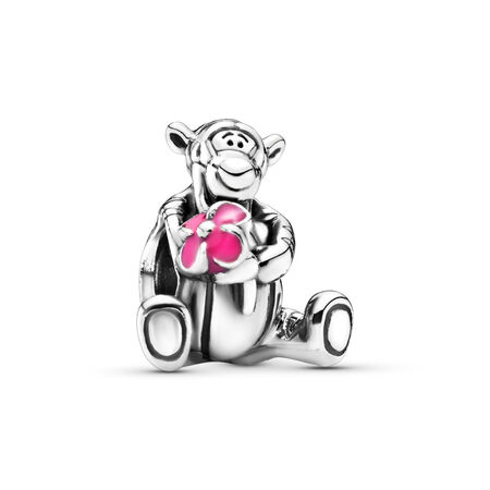 Disney, Tigger, Sterling silver, Enamel, Pink - PANDORA - #792135EN80