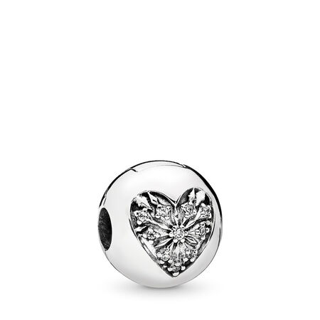 Heart of Winter Clip, Clear CZ, Sterling silver, Cubic Zirconia - PANDORA - #796388CZ