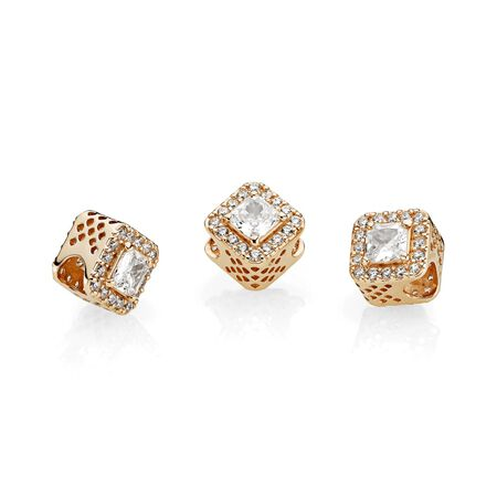Geometric Radiance, 14K Gold & Clear CZ