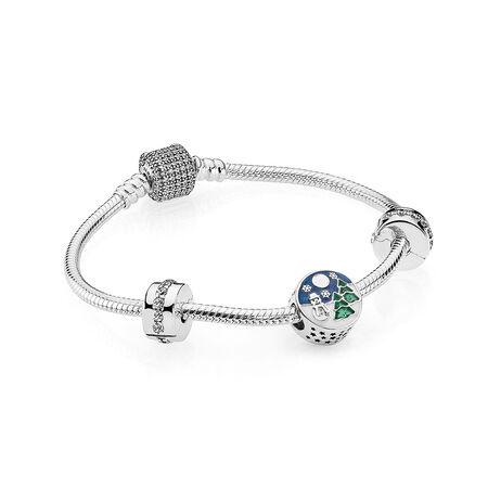 Ensemble-cadeau bracelet Merveilles de l'hiver