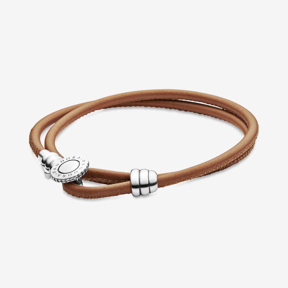 bracelet cuir beige