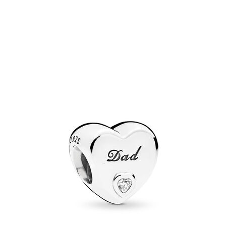 Dad's Love, Clear CZ, Sterling silver, Cubic Zirconia - PANDORA - #796458CZ