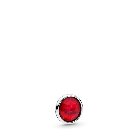July Droplet Petite, Synthetic Ruby, Sterling silver, Synthetic Ruby - PANDORA - #792175SRU