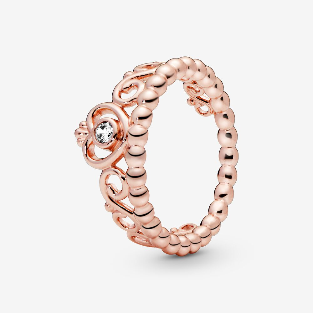 My Princess Tiara Ring in Pandora Rose™ with CZ | Plaqué or rose ...