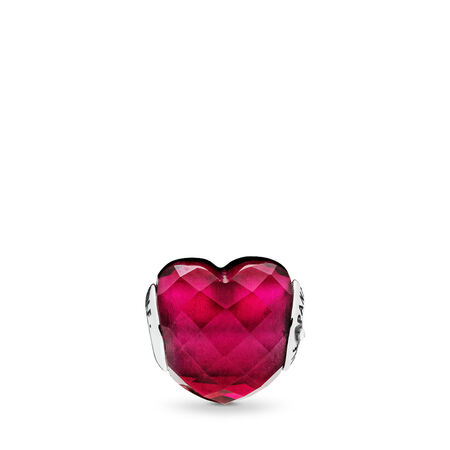 LOVE ESSENCE Charm, Fuchsia Red Crystal