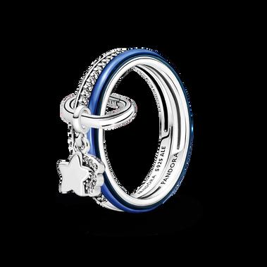 Pandora ME Shooting Star Ring Set