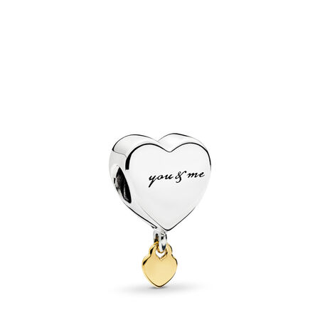 Two Hearts Dangle Charm