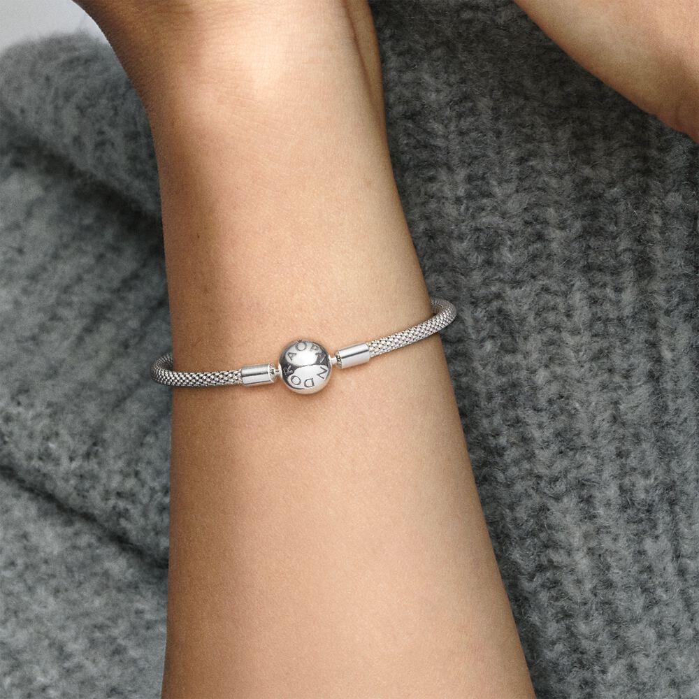 Sterling Silver Mesh Bracelet | Sterling silver | Pandora Canada