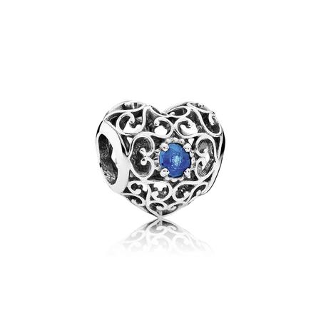 December Signature Heart, London Blue Crystal