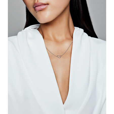 Asymmetric Heart of Love Necklace