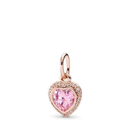 Sparkling Love, PANDORA Rose™ & Pink & Clear CZ, PANDORA Rose, Cubic Zirconia - PANDORA - #380366PCZ