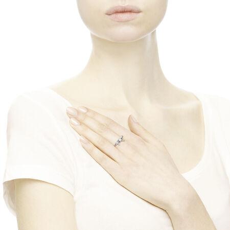 Beaux sentiments, perle blanche et cz incolore