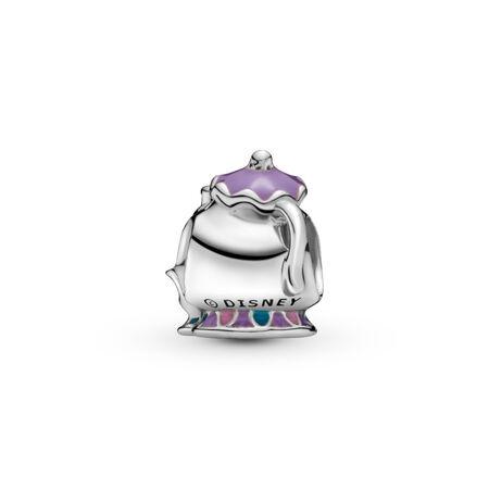 Breloque Disney Mme Potts et Chip de La Belle et la Bête, Argent sterling, émail, Bleu, Aucune pierre - PANDORA - #792141ENMX