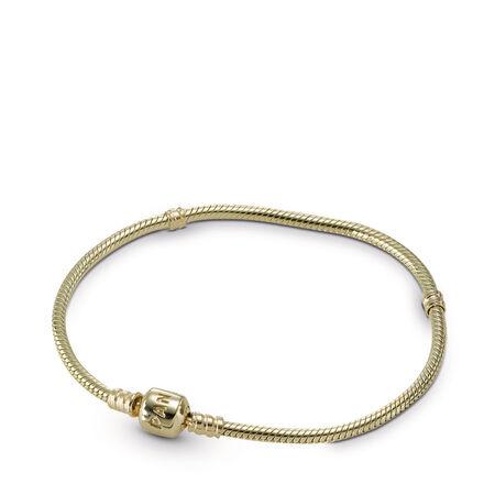 Moments Gold Clasp Bracelet, Or jaune 14 ct, Aucun autre matériel, Aucune couleur, Aucune pierre - PANDORA - #550702