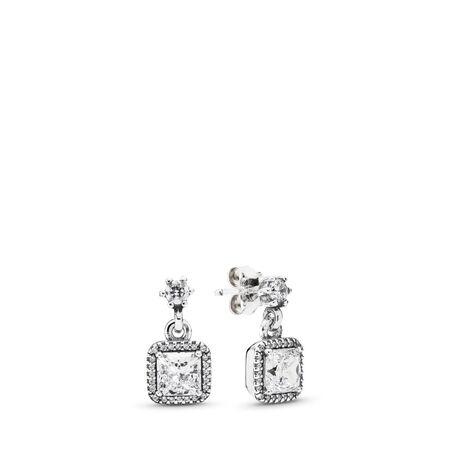 Timeless Elegance, Clear CZ, Sterling silver, Cubic Zirconia - PANDORA - #290593CZ