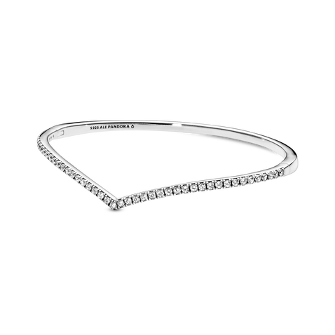 Sparkling Wishbone Bangle
