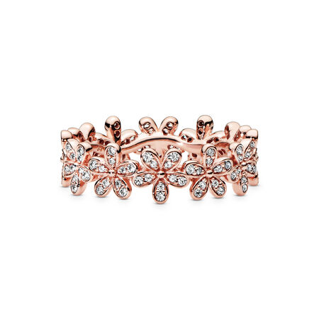 Daisy Flower Ring, PANDORA Rose, Cubic Zirconia - PANDORA - #180934CZ