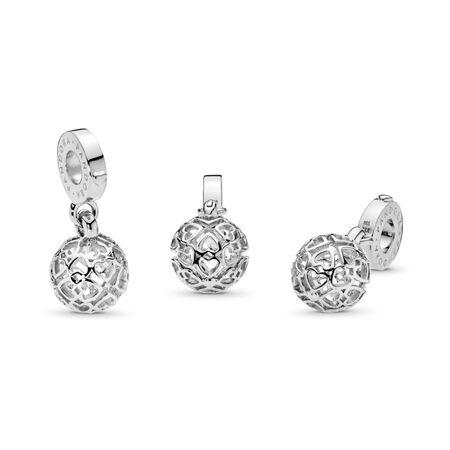 Charm pendentif Cœurs en harmonie, Argent sterling, Aucun autre matériel, Aucune couleur, Aucune pierre - PANDORA - #797255