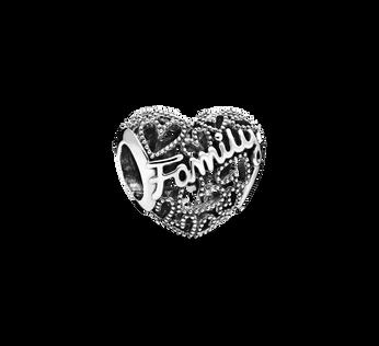 Family Heart Charm