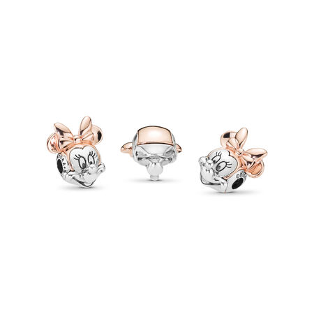 Disney, charm ESSENCE Portrait deux-tons de Minnie, PANDORA Rose