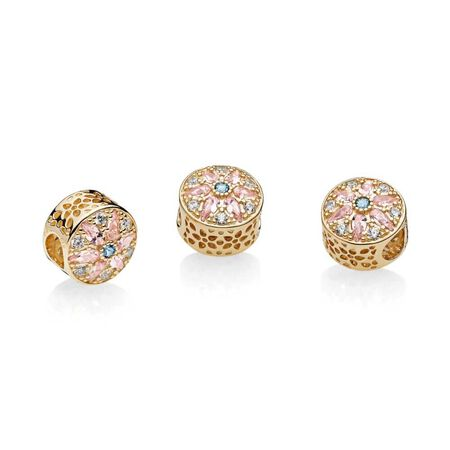 Opulent Floral, Multi-Colored Crystals & Clear CZ