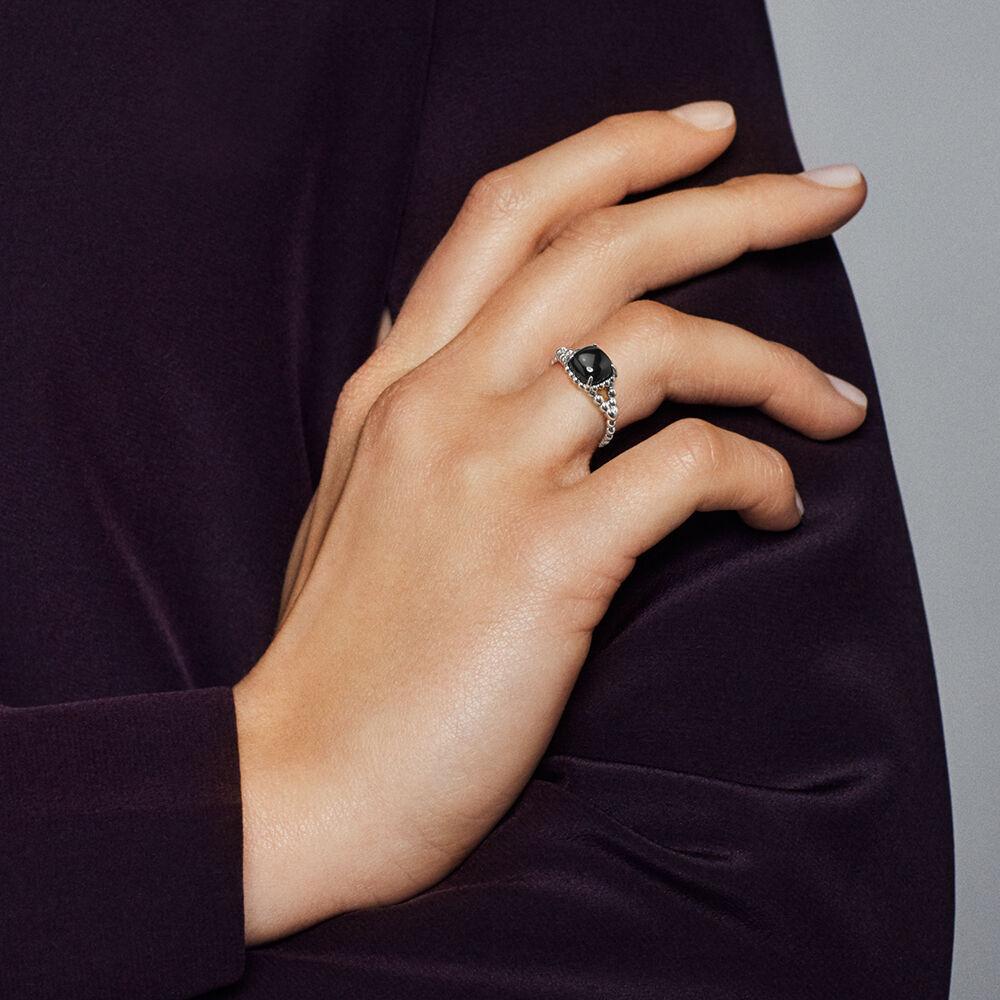 Vibrant Spirit Ring Black Crystal Pandora Jewellery
