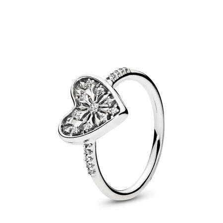 Heart of Winter Ring, Clear CZ