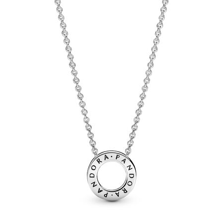 Hearts of PANDORA Necklace, Clear CZ, Sterling silver, Cubic Zirconia - PANDORA - #397436CZ