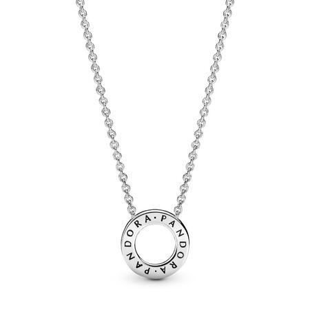 Collier Cœurs de PANDORA, cz incolore, Argent sterling, Aucun autre matériel, Aucune couleur, Zircon cubique - PANDORA - #397436CZ