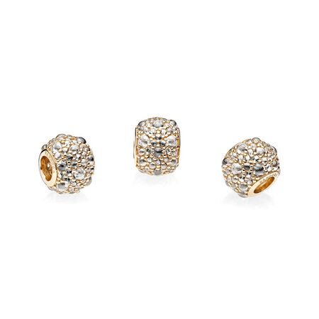Shimmering Droplets, 14K Gold & Clear CZ