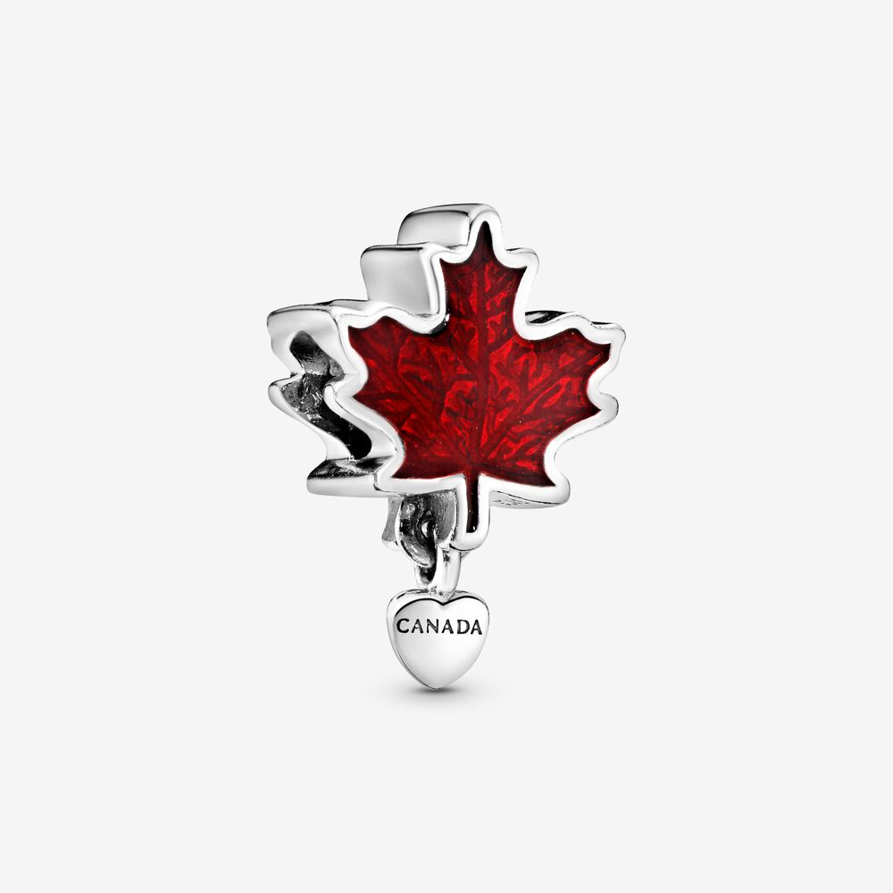 Charm Feuille d'érable rouge Canada | Argent sterling | Pandora Canada