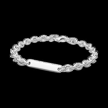 Engravable Bar Link Bracelet