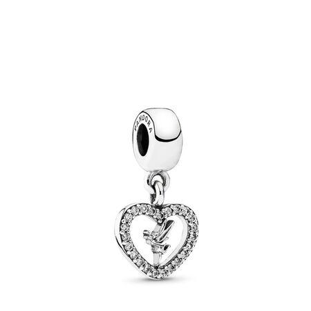 Disney, Amour de Fée Clochette, Argent sterling, Aucun autre matériel, Aucune couleur, Zircon cubique - PANDORA - #791565CZ