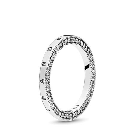 Signature Hearts of PANDORA Ring, Clear CZ, Sterling silver, Cubic Zirconia - PANDORA - #197437CZ