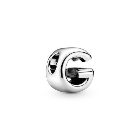 Charm Lettre G, Argent sterling, Aucun autre matériel, Aucune couleur, Aucune pierre - PANDORA - #797461