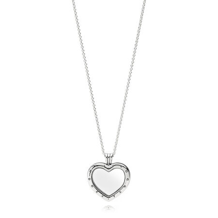 eb4d2665a Sparkling PANDORA Floating Heart Locket, Clear CZ