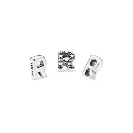 Letter R Petite Charm, Sterling silver - PANDORA - #797336