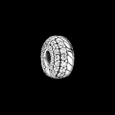 Clip à motif de chaîne serpentine en pavé