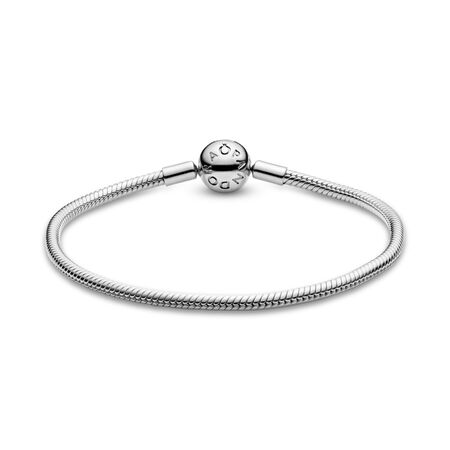 Smooth Silver Clasp Bracelet