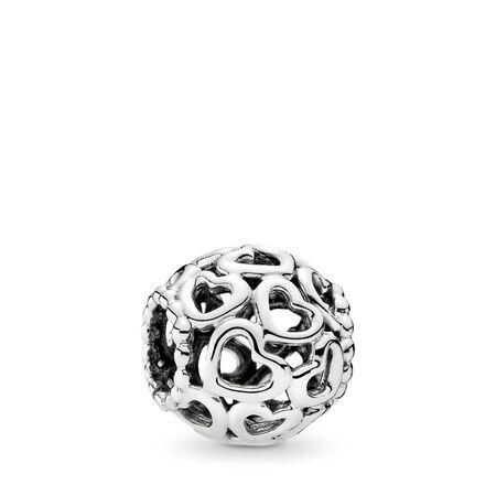 Breloque multitude de cœurs, Argent sterling, Aucun autre matériel, Aucune couleur, Aucune pierre - PANDORA - #790964