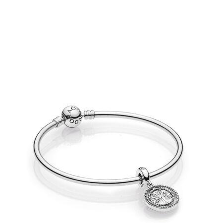 Ensemble-cadeau de bracelet rigide Arbre familial