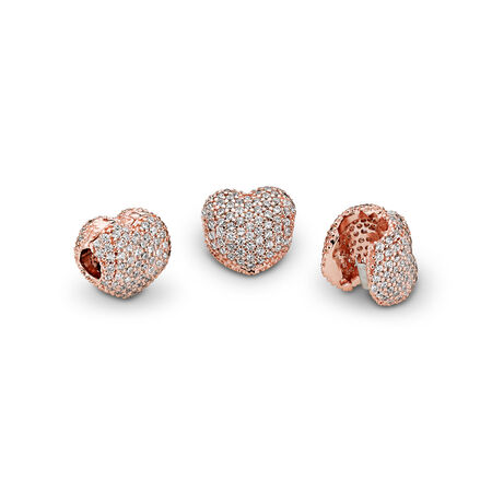 Pavé Open My Heart, PANDORA Rose™ & Clear CZ