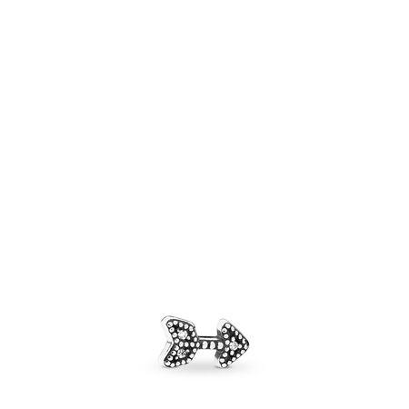 Sparkling Arrow Petite, Clear CZ, Sterling silver, Cubic Zirconia - PANDORA - #792170CZ