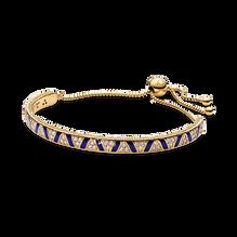 Blue Stripes & Stones Slider Bracelet - FINAL SALE
