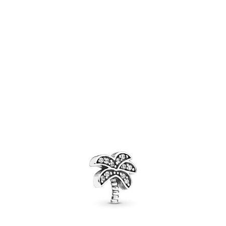 Mini palmier tropical, cz incolore, Argent sterling, Aucun autre matériel, Aucune couleur, Zircon cubique - PANDORA - #792182CZ