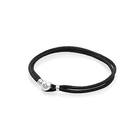 Bracelet-cordonnet en tissu, noir