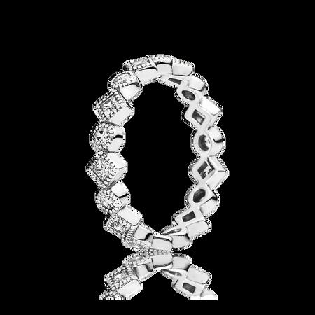 Alluring Brilliant Princess Stackable Ring, CZ