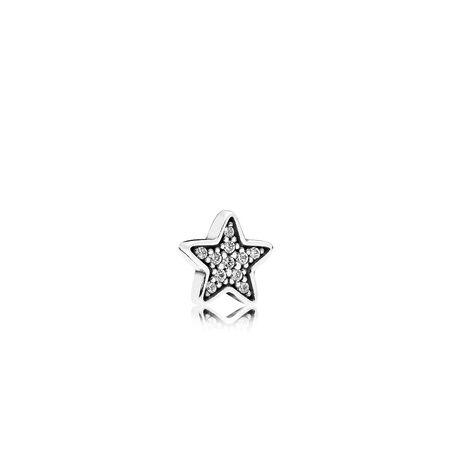 Mini étoile filante, cz incolore