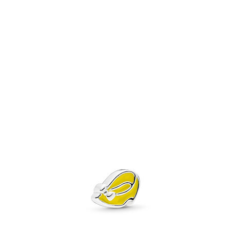 Disney, Minnie Shoe Petite Charm, Light Yellow Enamel, Sterling silver, Enamel, Yellow - PANDORA - #796521EN06